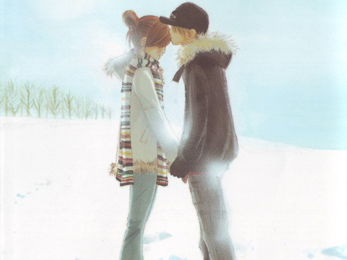 A Book Comes to Life wallpaper entitled Random Lovey Dovey Snow Picture