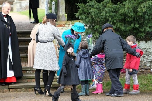 Royal Family Sandringham Christmas 2012