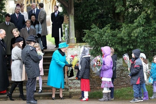 Royal Family Sandringham Natale 2012