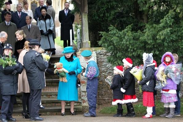 Royal Family Sandringham Christmas 2012