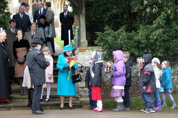 Royal Family Sandringham 크리스마스 2012