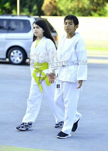 Royal Jackson with his cousin Blanket Jackson ♥