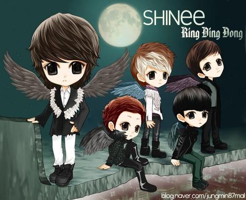 Shinee wallpaper entitled SHINee Anime