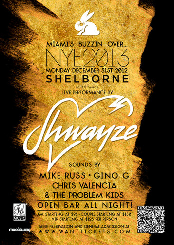 SHWAYZE Live - NYE '13 - Miami 바닷가, 비치