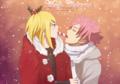 Santa's candy - natsu-x-lucy fan art