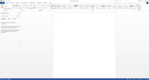 Screenshot for Microsoft Word 2013