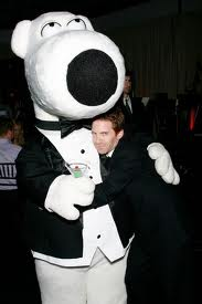 Seth with Brian Griffin (Family Guy)