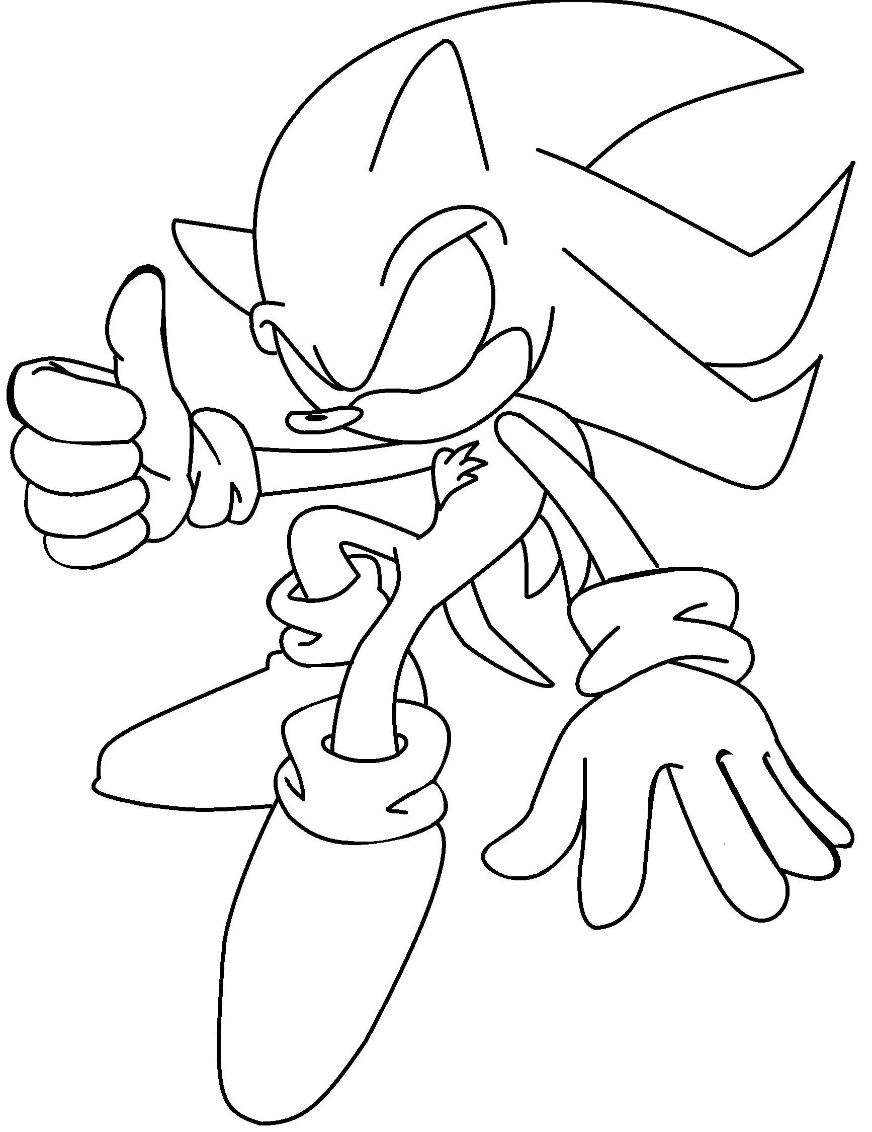 Super Silver Sonic And Shadow Coloring Pages Coloring Pages