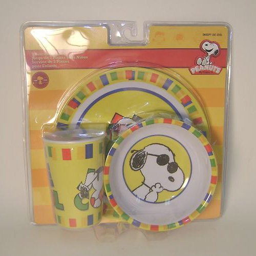 Snoopy plate set