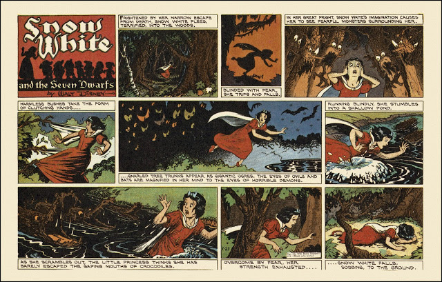 Snow White Comic From 1938 Snow White And The Seven