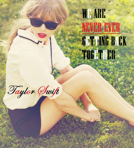 Taylor Swift wallpaper possibly with bare legs, sunglasses, and tights entitled Taylor Swift- We Are Never Ever Getting Back Together (Edit)