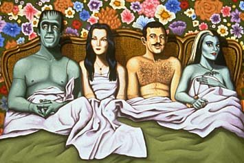 The Addams Family 1964 wallpaper probably with anime called The Addams Family and The Munsters