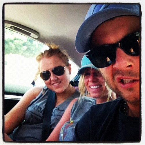 Keith Harkin hình nền with sunglasses called The Harkin sibs in LA! (when Rebecca visited Keith in Cali last summer)