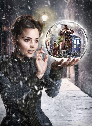 Clara Oswald wallpaper containing a green beret, fatigues, and battle dress entitled The Snowmen Pics
