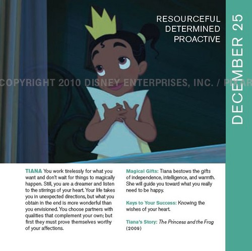 Tiana in Disneystrology book