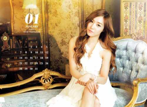 January Calendar Girl : Tiffany girls generation images snsd january