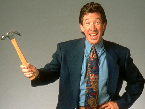 Tim Allen wallpaper containing a carpenter's hammer, a business suit, and a hatchet entitled Tim Allen