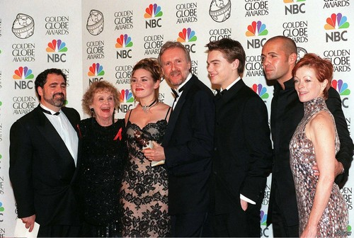 Titanic Cast at the Golden Globes