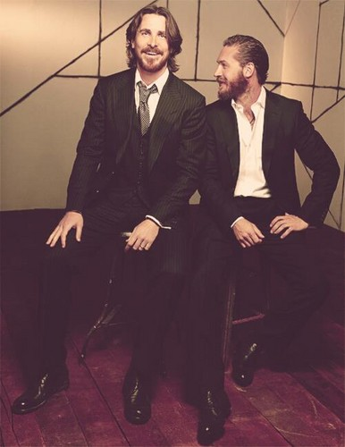 Tom with Christian Bale 写真 Shoot