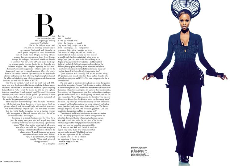 Tyra banks for Harpers Bazaar Singapore