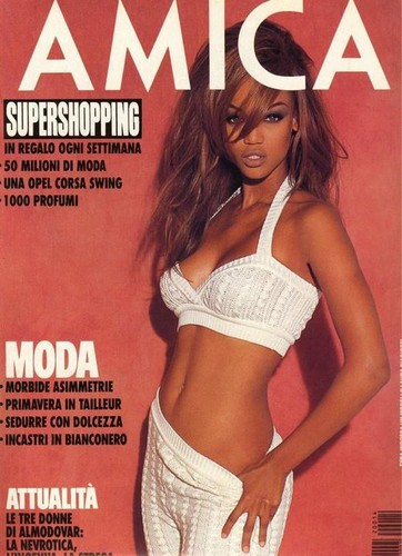 Tyra on the cover of AMICA
