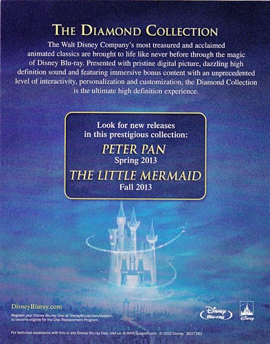 Walt Disney Blu-Ray Inlays - Diamond Editions 2013
