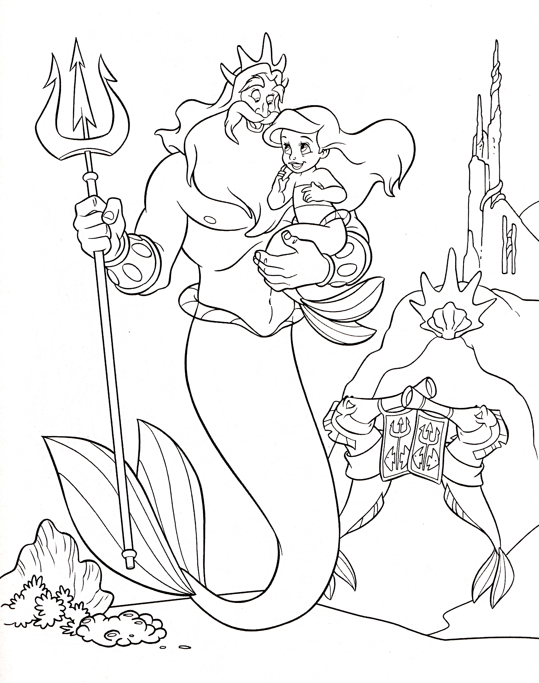 Walt Disney Characters Images Walt Disney Coloring Pages Disney Princess Baby Ariel Coloring Pages