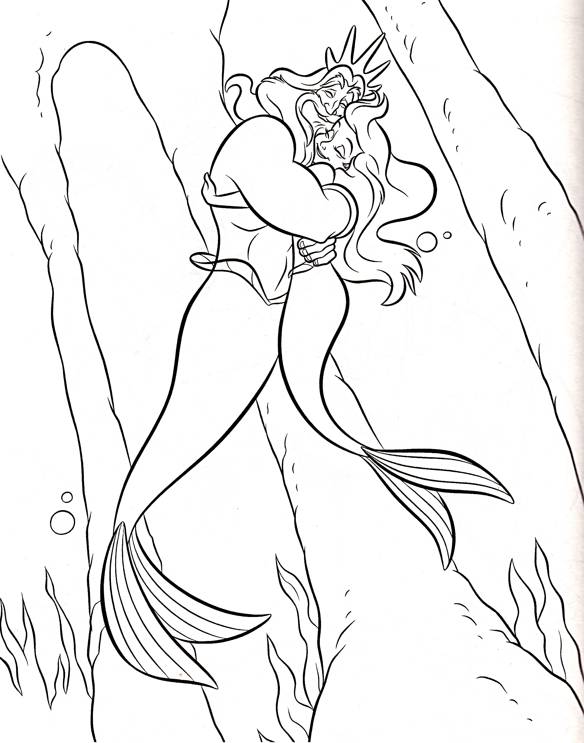 Walt Disney-Figuren Bilder Walt Disney Coloring Pages - King Triton ...