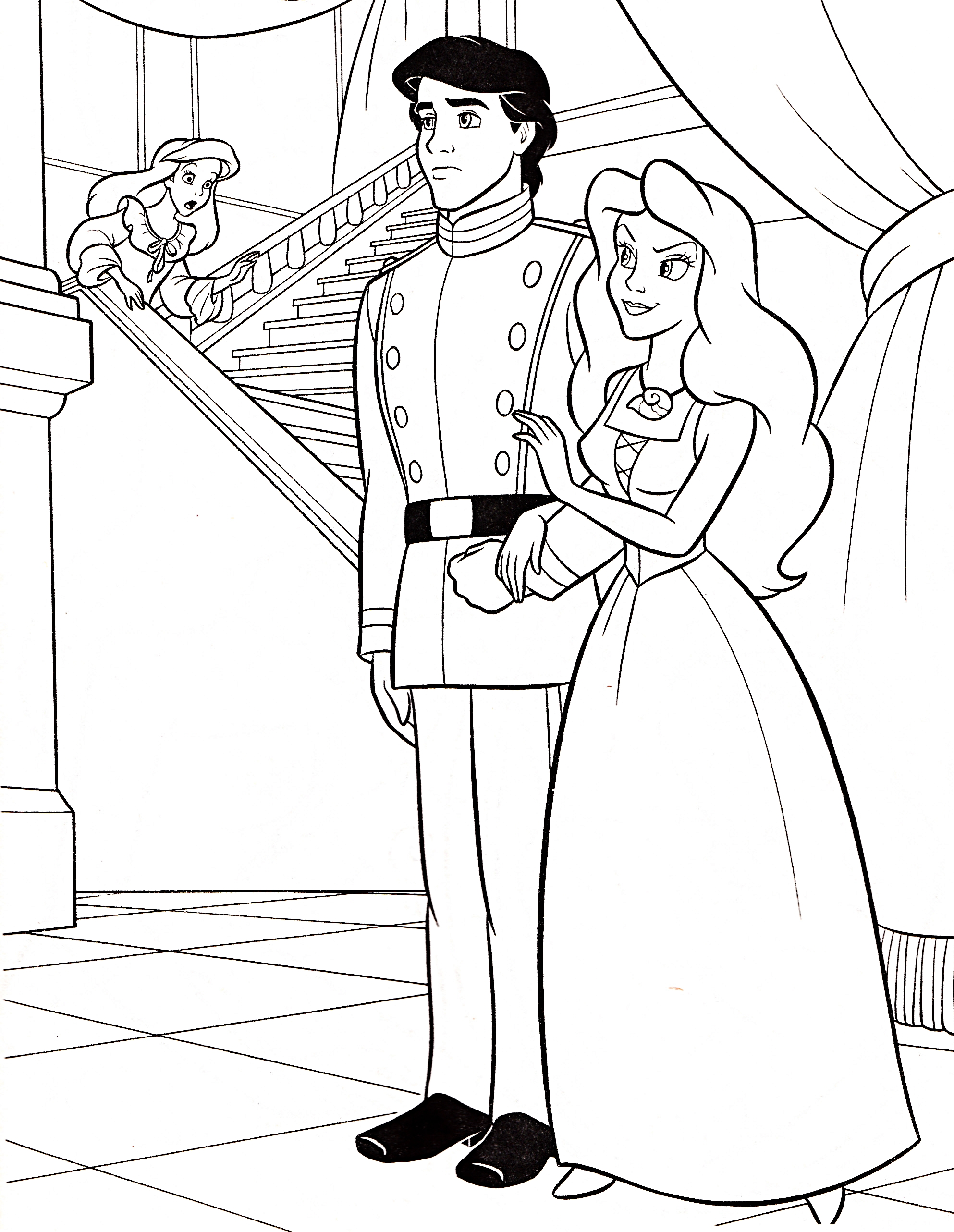 prince and princess coloring pages - photo#19