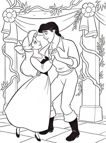 Walt Disney Characters wallpaper probably containing a sign and anime entitled Walt Disney Coloring Pages - Princess Ariel & Prince Eric