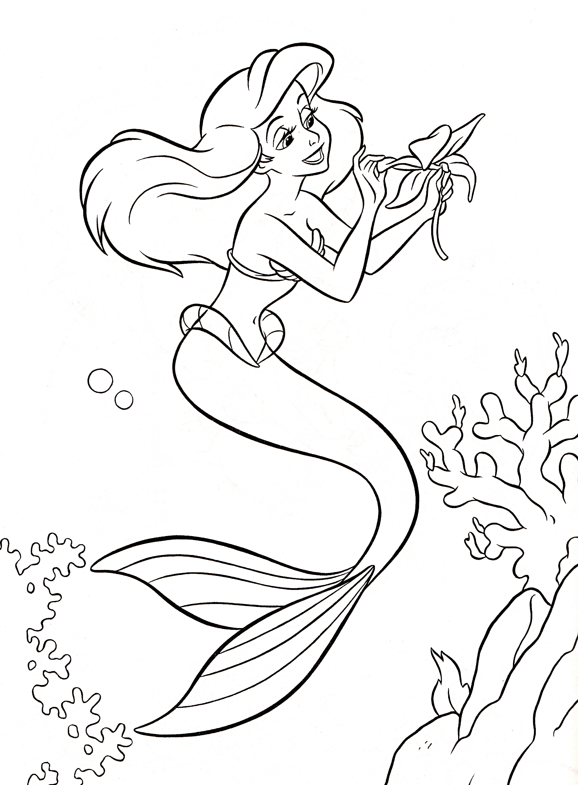 disney ariel coloring pages - photo#23