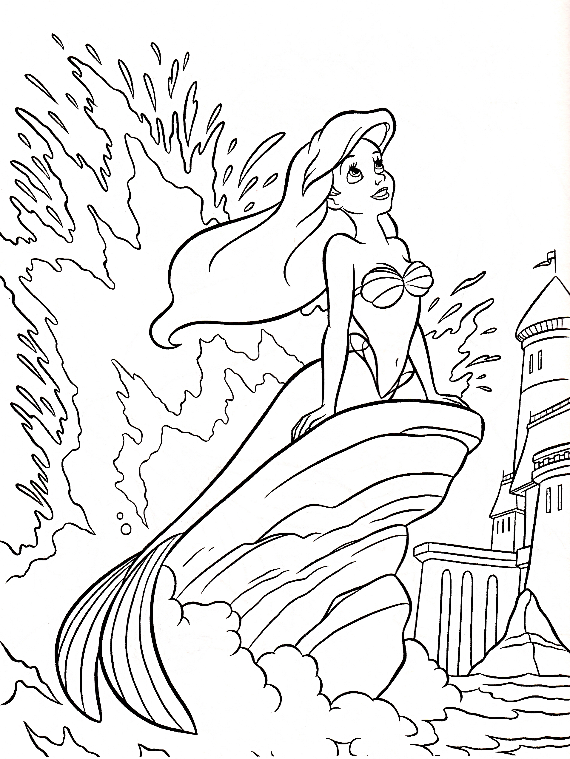 Walt Disney Coloring Pages Princess Ariel Walt Disney The Coloring Pages