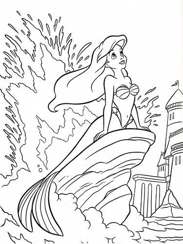 Walt ディズニー Coloring Pages - Princess Ariel