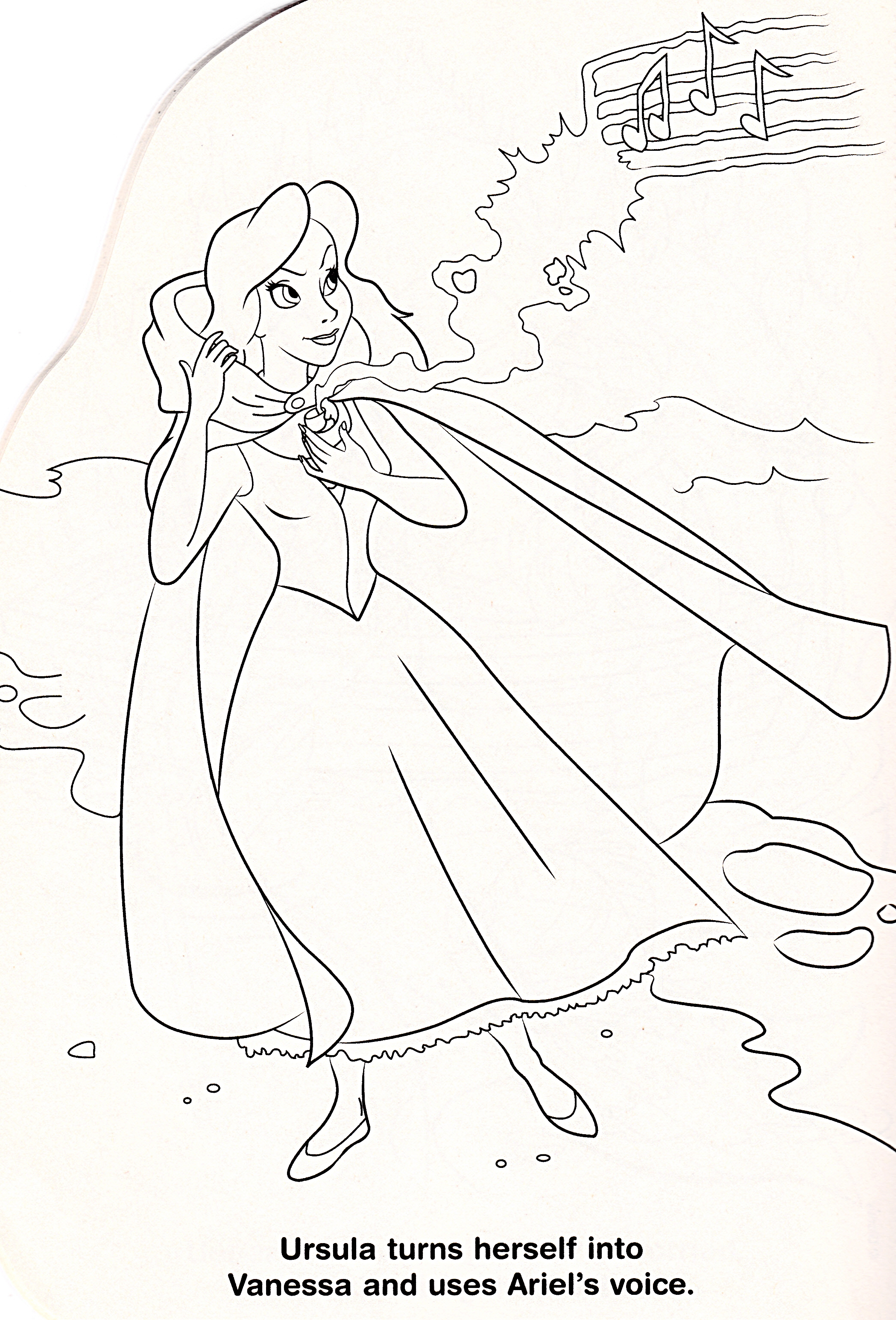 walt disney coloring pages - vanessa
