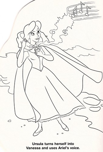 Walt 디즈니 Coloring Pages - Vanessa