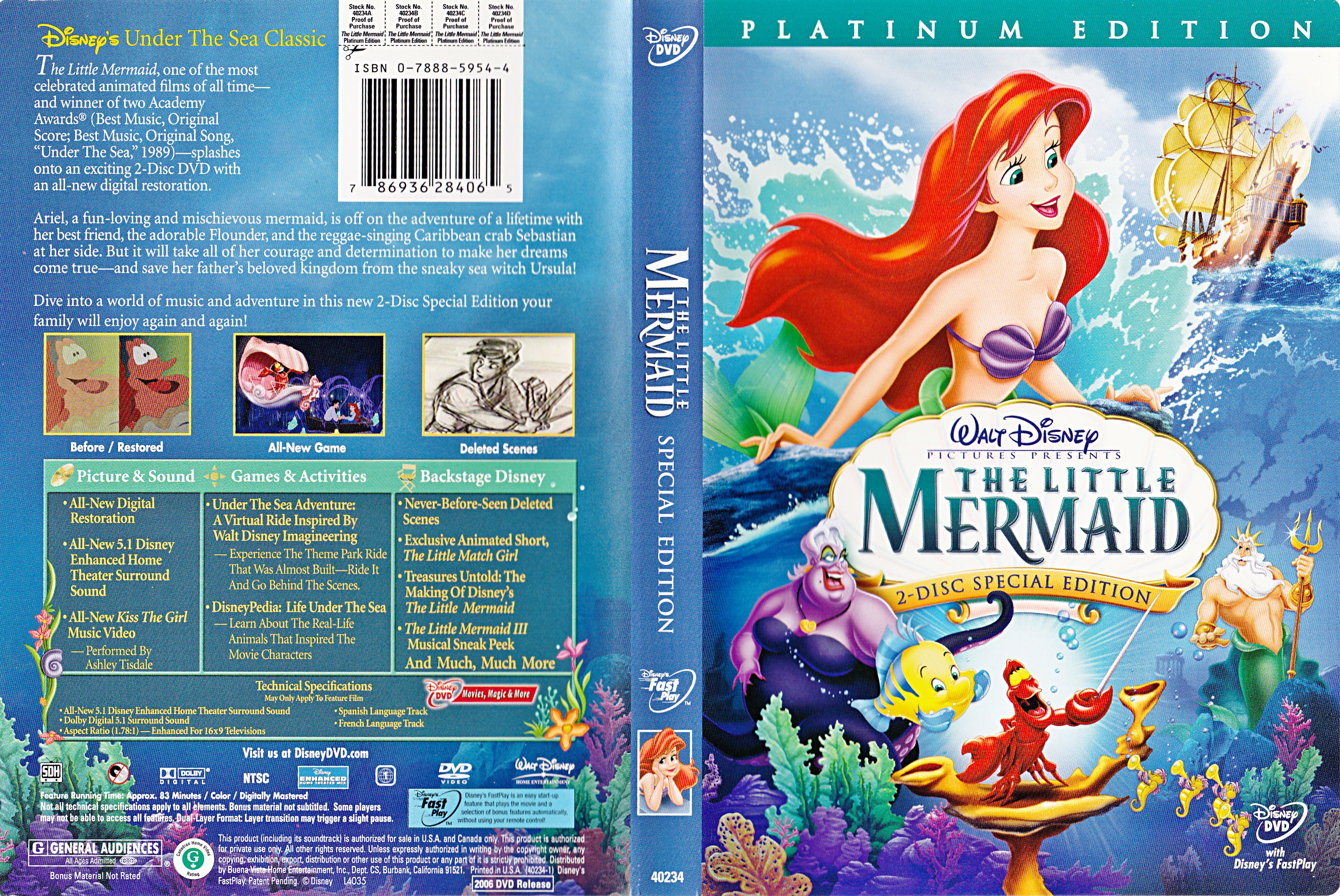 Walt disney DVD Covers - The Little Mermaid: Platinum Edition