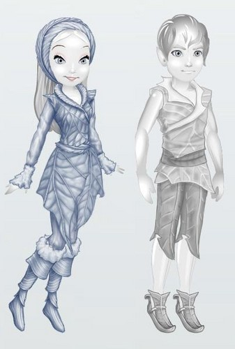 Wearable Vidia winter outfit and Sled outfit.