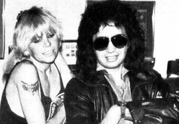 Wendy with Gene Simmons (KISS)