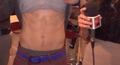 Wesley's abs close up