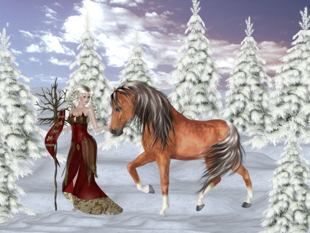 Winter Fairy দেওয়ালপত্র