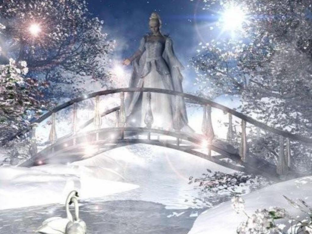 Winter fairy wallpaper cynthia selahblue cynti19 for Fond ecran fee