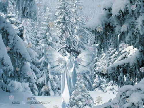 Winter Fairy fondo de pantalla