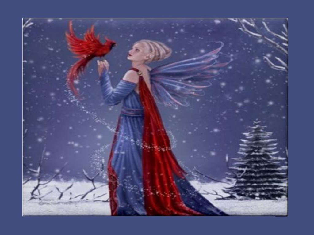 Winter Fairy Обои