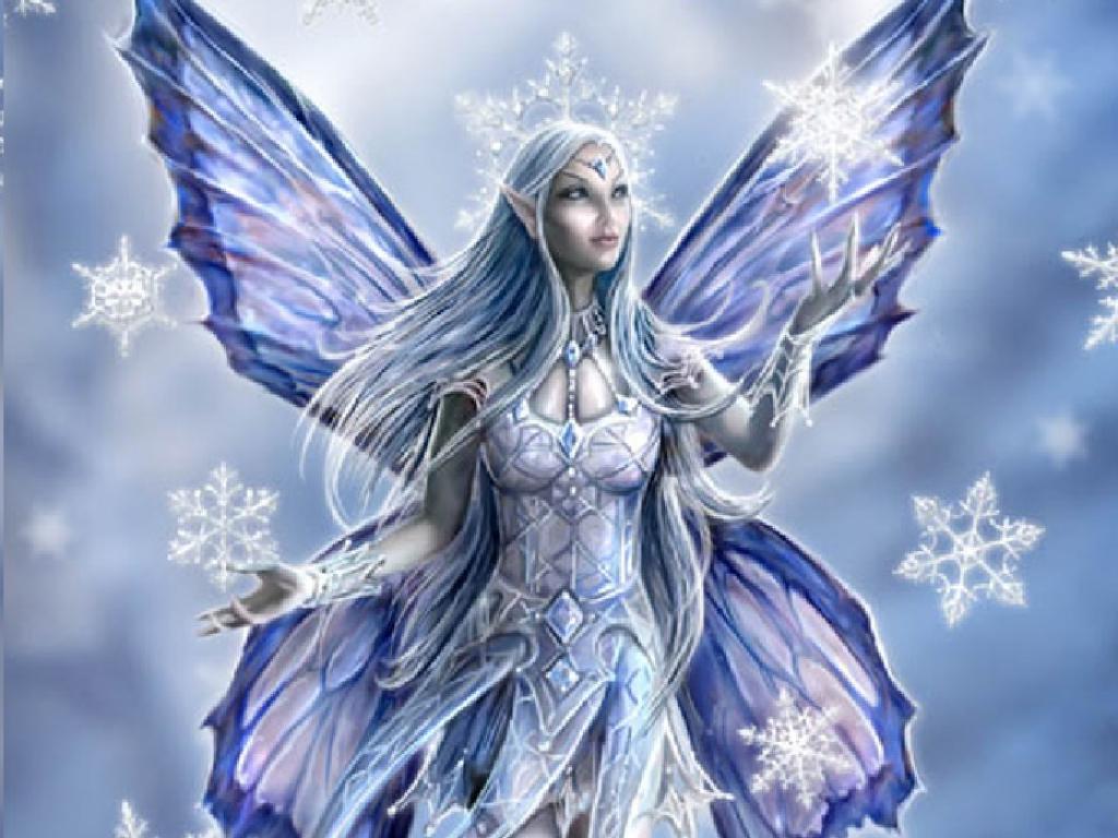 Winter Fairy karatasi la kupamba ukuta