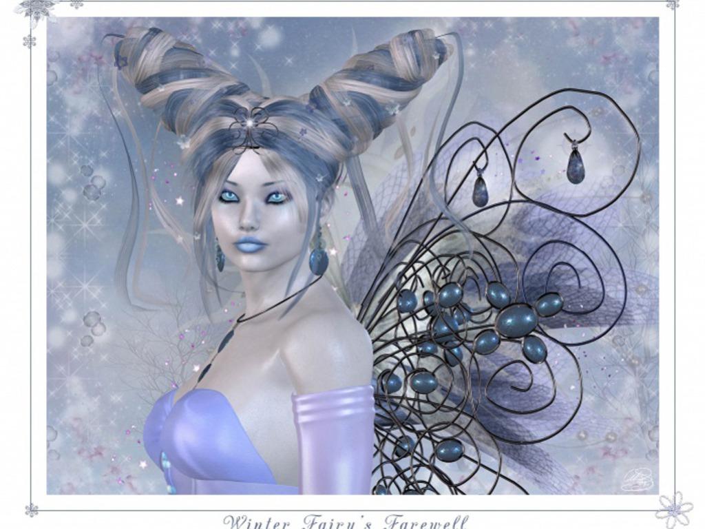 Winter Fairy fondo de pantalla
