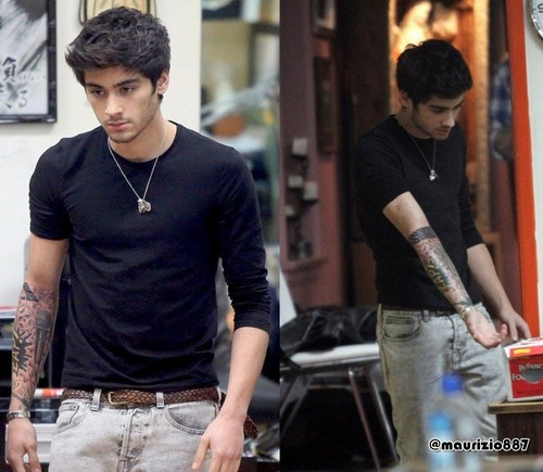 Zayn Malik,New tattoo, 2012