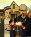 american breaking gothic - breaking-bad fan art