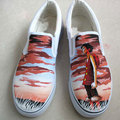 customized Monkey D Luffy shoes