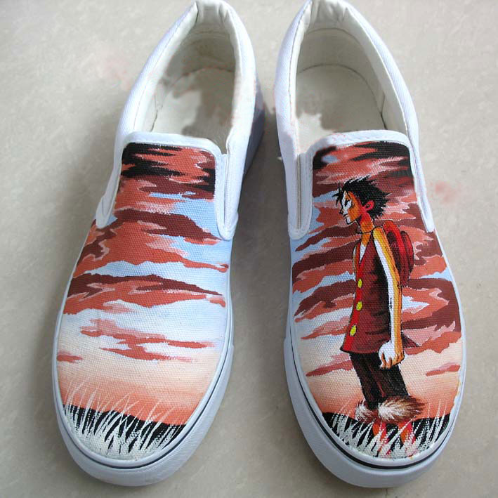 customized Monkey D Luffy shoes
