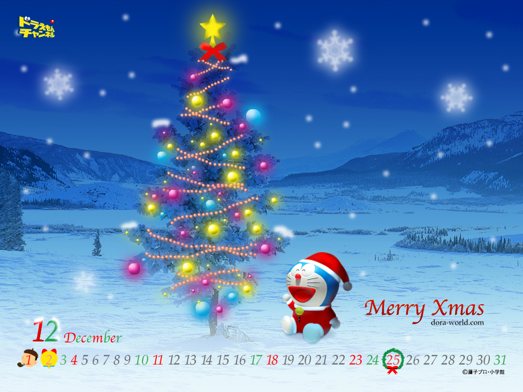 Christmas Images Doraemon Wallpaper HD And Background Photos